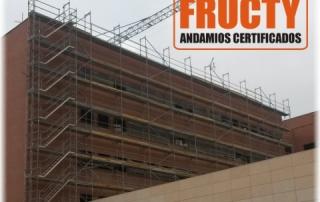 Andamio de marcos en Hospital La Arrixaca Murcia